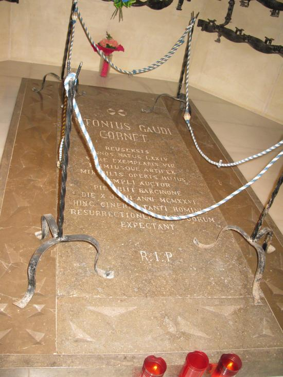 Mormantul (intr-o capela din Sagrada Familia)