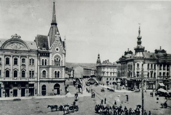 259-1901-intersectia str.Gh.Doja cu Gh.Baritiu si piata Mihai Viteazu