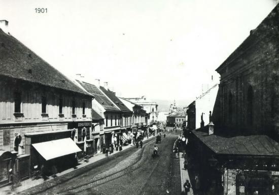 268-1901str. Gh.Doja cu calea ferata, vazuta de la etajul 1 al hotelului Central