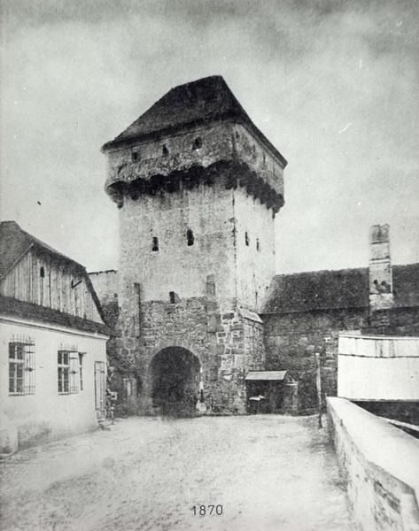 276-1870-turnul Podului-demolat in 1872 str. Gh.Doja-vedere dinspre nord