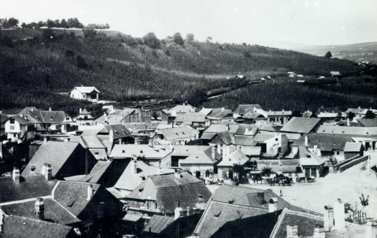 540-1887Piata Mihai Viteazu vazuta din turnul pompierilor (in spate se vede str. Racovita)
