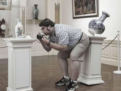 Funny photographer