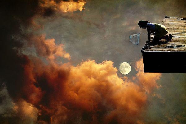 Fishing the moon