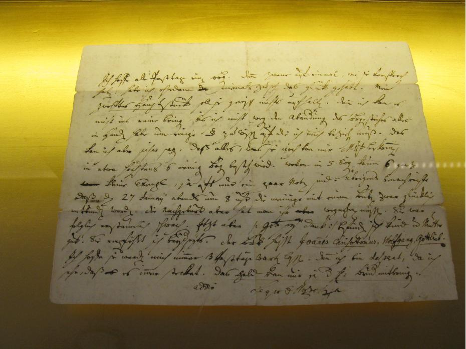 scrisul lui Mozart
