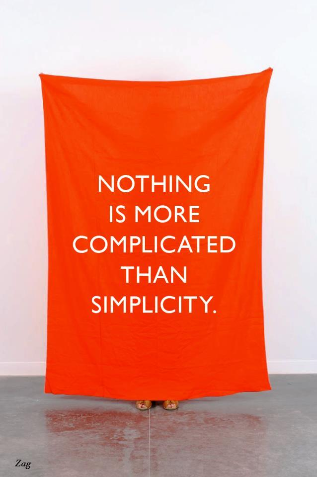 Simplicity is complicated
