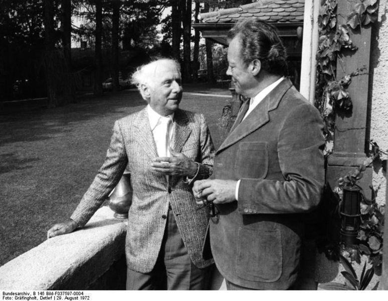 Max Ernst&Willy Brandt, Berlin 1972
