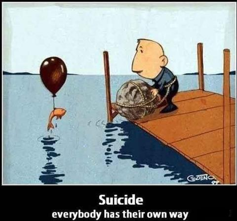 how fish commit suicide
