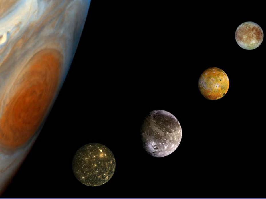 Jupiter-with-its-moons-space