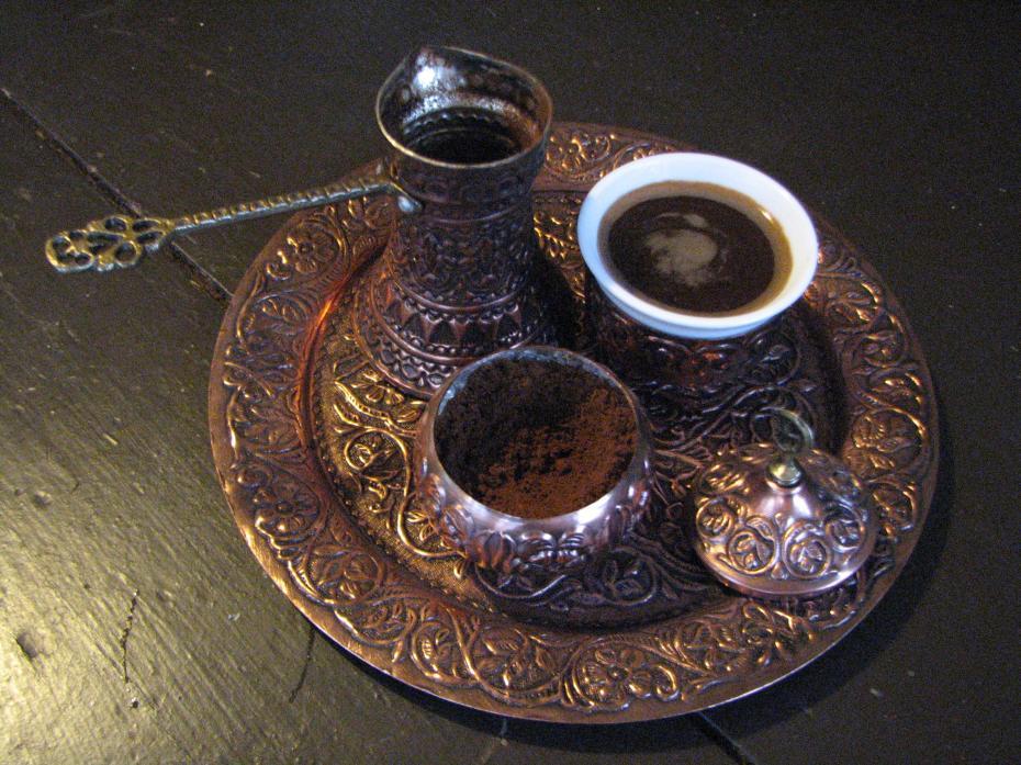 cafea aburind