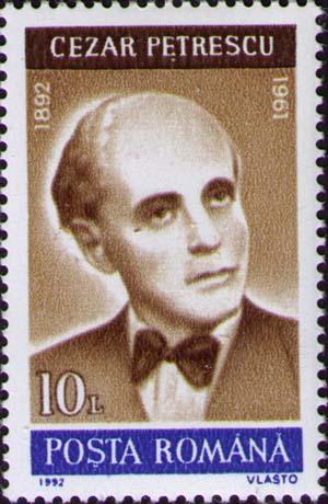 Stamp_1992_Cezar_Petrescu