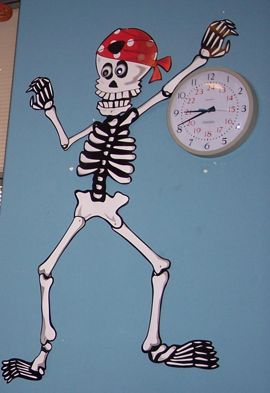 schelet masurand timpul