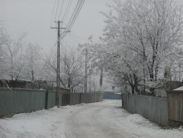 satul romanesc iarna