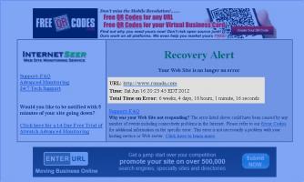cea mai lunga eroare pentru un website- in timp
