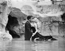 It was a moment that marked a turning point in postwar Europe: Anita Ekberg wading through the Fontana di Trevi in Federico Fellini's film La Dolce Vita, as improbably voluptuous as the fountain itself. La Dolce Vita was shot in 1960, and while Ekberg's l